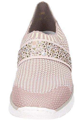 Rieker Damen 537t6 Slipper Pink (altrosa-Beige/altrosa/Rose)