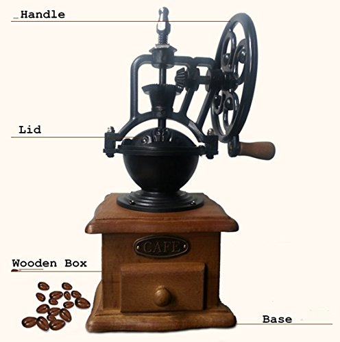 Global King Antique Classic Coffee Bean grinder For Starbucks Coffee Grinder, Hand-crank Coffee ...
