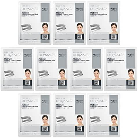 DERMAL Platinum Collagen Essence Full Face Facial Mask Sheet 23g