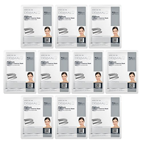 DERMAL Platinum Collagen Essence Full Face Facial Mask Sheet -