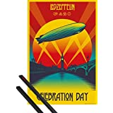 Poster + Hanger: Led Zeppelin Poster (36x24 inches) Celebration Day And 1 Set Of Black 1art1® Poster Hangers