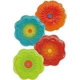 Grasslands Road Petals Bright Floral Dessert Plates