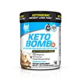 BPI Sports Keto Bomb Ketogenic Creamer for Coffee and Tea, Caramel Macchiato, 18 Count