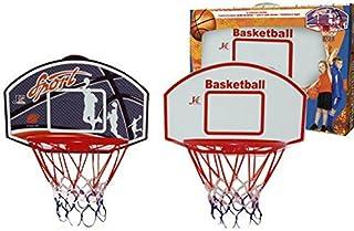 Set basket canestro rete colorata tebellone legno giardino giochi sport palla