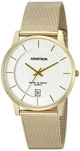 Armitron Men's Date Calendar Dial Gold-Tone Mesh Bracelet Watch