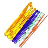 Imported 9 Sizes Multicolor Plastic Crochet Hooks Knitting Needles 3.0 - 12.0mm-14006948MG
