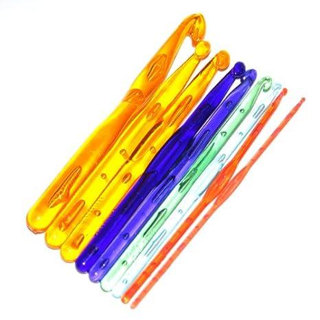 9 Piezas De Multicolores Ganchillos Ganchos De Plástico Agujas De Tejer 3.0  - 12.0mm  Amazon.es  Juguetes y juegos 26d39aa5660