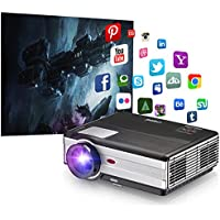 Wireless LED LCD 1080p Projector - Home Cinema Theater Multimedia Video Projectors 3500 Lumens Wxga Full HD Outdoor Movie Video Games WiFi HDMI USB AV VGA for iPad iPhone Android Smartphone DVD TV