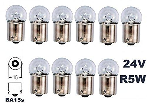 24 Volt - 10 Stü ck - R 5W - BA15S - 5Watt - Nfz LKW Beleuchtung - Glü hlampe, Glaslampe, Glü hbirne, Soffitte, Lampen. Mit E-Prü fzeichen und ist fü r den Straß enverkehr zugelassen. INION®