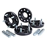 KSP 5X114.3mm Wheel Spacers 20mm Fit for H-o-n-d-a Accord Civic CR-V Element Acura CL ILX RSX TLX TSX MDX Forged Hubcentric 64.1mm bore, 12x1.5 Studs Black for 5 Lug Tires(4pcs), 2 Year Warranty