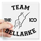 CafePress - The 100 - Team Bellarke Sticker - Square Bumper Sticker Car Decal, 3'x3' (Small) or 5'x5' (Large)