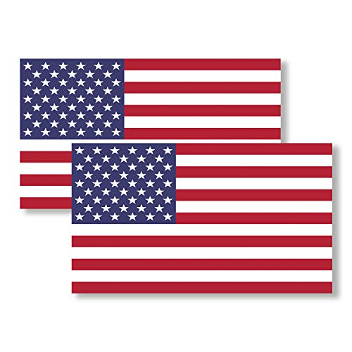 2 Pack USA American Flag Vinyl Decal Army Navy Tactical Military Country Weather-Resistant Bumper Stickers for Any Vehicle, Car, Truck, RV, Motorcycle, Bicycle, Scooter, Jeep, SUV (3.9