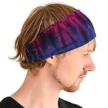 Casualbox Elastic Head Cover Band Tie-Dye Viscose Bandana Stretch Hairband Boho Hippie Unisex BB