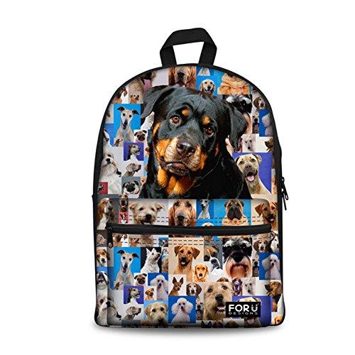 FOR U DESIGNS Cute Animals Print Canvas School Bags for Teen Girls Bookbag