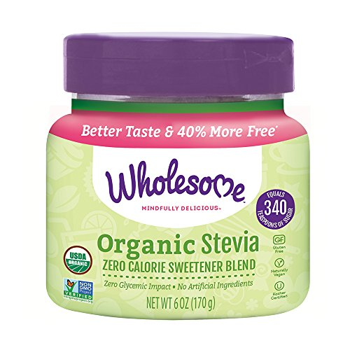 Wholesome Organic Stevia, Zero Calorie Sweetener Blend, Non GMO, 6 oz Spoonable Jar, single unit