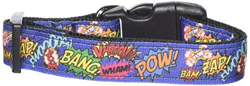 Mirage Pet Products 125-157 MD Superhero Sound Effects Nylon Dog Collar, Medium -