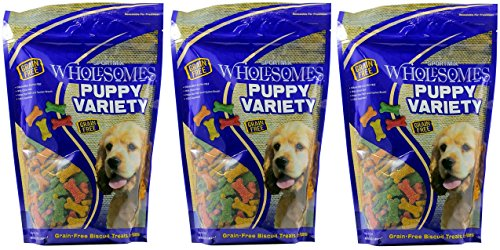 (3 Pack) Sportmix Wholesomes Puppy Variety Grain-Free Dog Biscuits, 2 lbs Per Bag