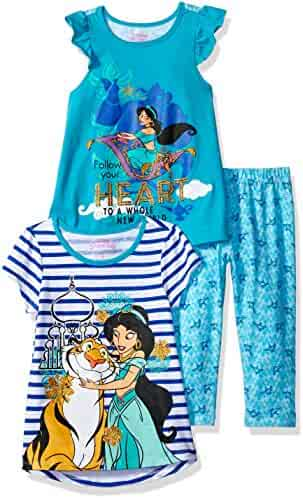 Disney Girls' 3 Piece Princess Jasmine Printed Legging Set