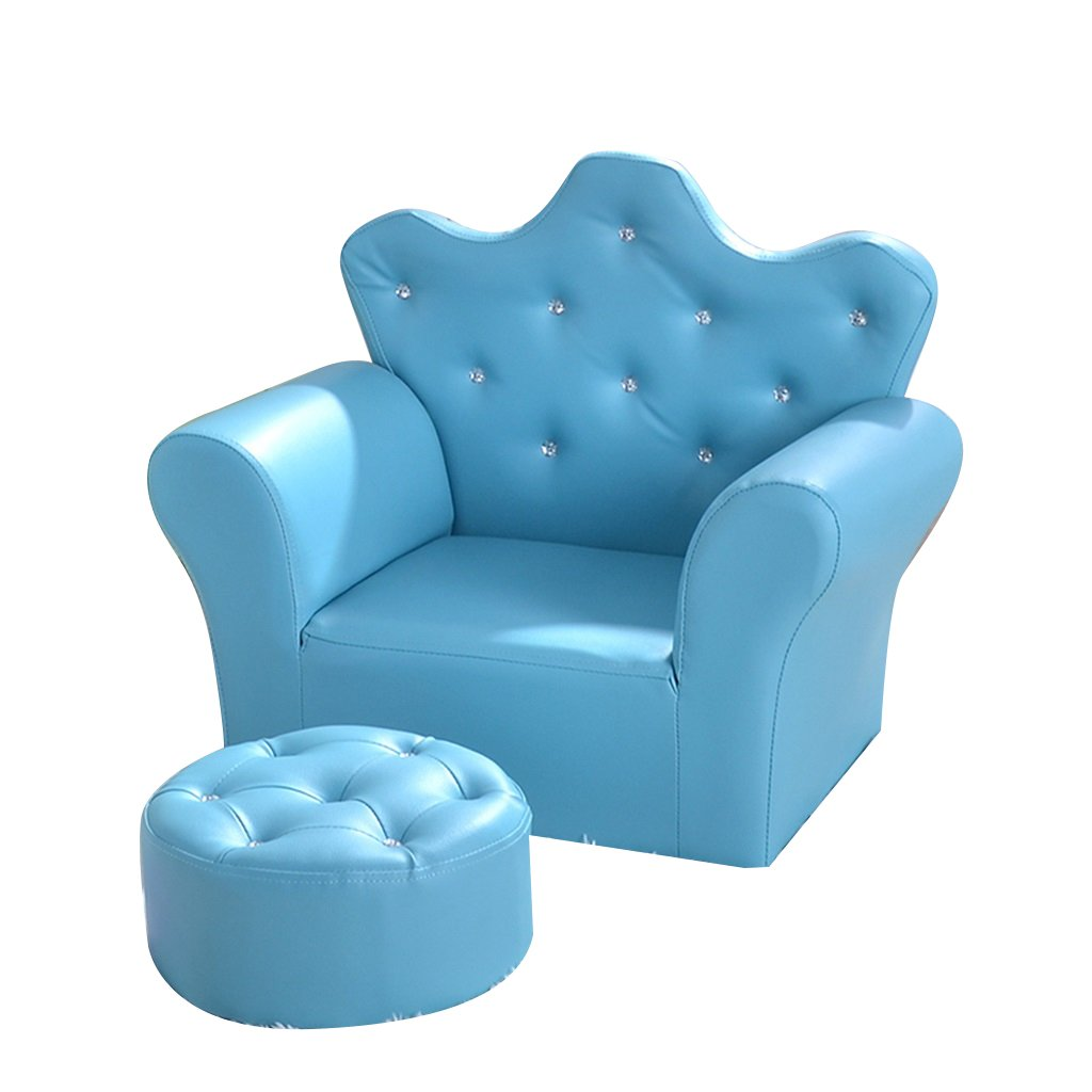 ALUK- small stool Cartoon Wooden Frame Sofa Sgabello Game Chair Kindergarten Poltrona Cute Crown Mini Chair