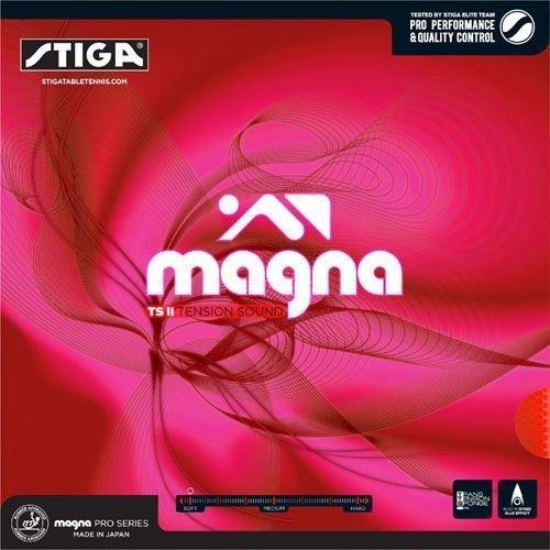 Stiga Magna TS II Tension Sound Table Tennis Rubber (Black) - 1
