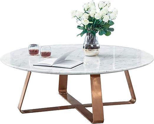 mesas de Centro Mesa de Centro Redonda de Metal Forjado, Dorado y ...