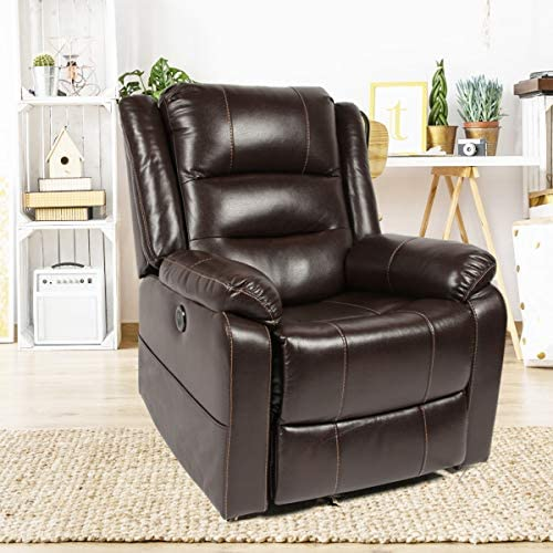 Unionline PU Leather Power Lift Chairs Recliner Massage