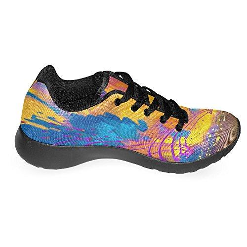 Interessante Womens Jogging Running Sneaker Leggero Go Easy Walking Casual Comfort Scarpe Da Corsa Abstract Colorful Landscape Multi 1