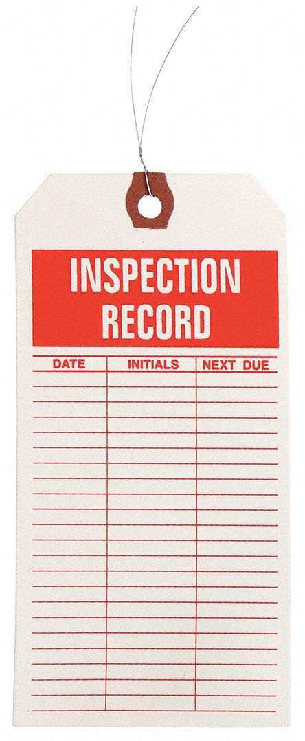 Inspctn Tag, Ppr, Inspection Record, PK1000