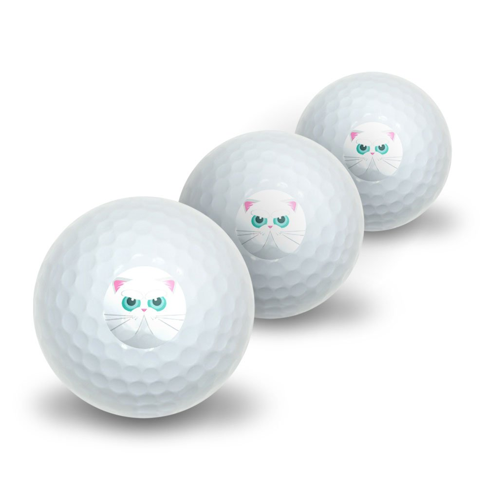 Graphics and More Persian Cat Face Novelty Golf Balls 3 Pack by Graphics and More (Image #1)