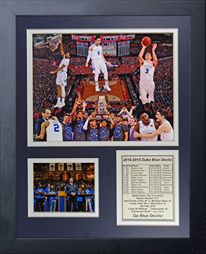 "NCAA Duke Blue Devils 2015 Basketball National Champions Legends Never Die Collage Framed Photo Collage, 11"" x 14"", Black"