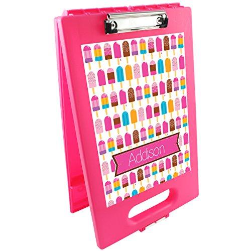Bright Popsicles Personalized Clipboard Storage Case | Custom Clipboard | School Gear | Customized School Supplies | Kids Custom School Gifts