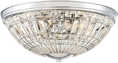 Minka Lavery Flush Mount Ceiling Light 2375-77 Palermo Low Profile Fixture, 5-Light 300 Watts, Chrome
