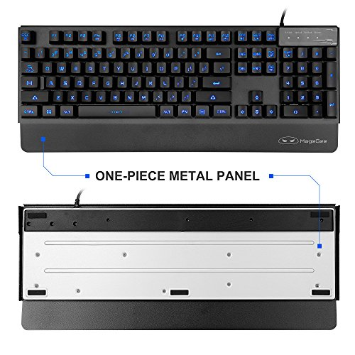 514Kpekk1vL - New-Updated-PC-KeyboardK1-USB-Wired-Backlit-Metal-Panel-Gaming-Keyboard-for-Computer-Laptop-in-Black