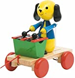 Woodyland 21 x 19 cm Didactic Toys Pull Along Dog with Xylophone by Woodyland