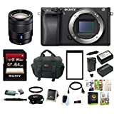 Sony a6300 Mirrorless Digital Camera (Body Only) with Vario-Tessar 16-70mm Lens & Focus Accessory Bundle