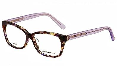 caec4f5d5dcd Amazon.com: Kate Spade Demi/F Eyeglasses-0EZ2 Plum Havana Lavender ...