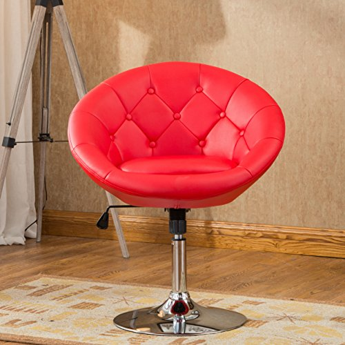 Roundhill Furniture Noas Contemporary Round Tufted Back