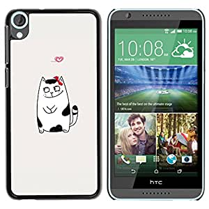 [Neutron-Star] Snap-on Series Teléfono Carcasa Funda Case Caso para HTC Desire 820 [Blanco y negro de peluche]