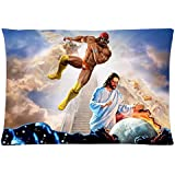 LOVE GIRL Bedding Set Living Room Pillow Covers, Macho Man Randy Savage Jesus Cotton Pillow cover 20x30 Inches