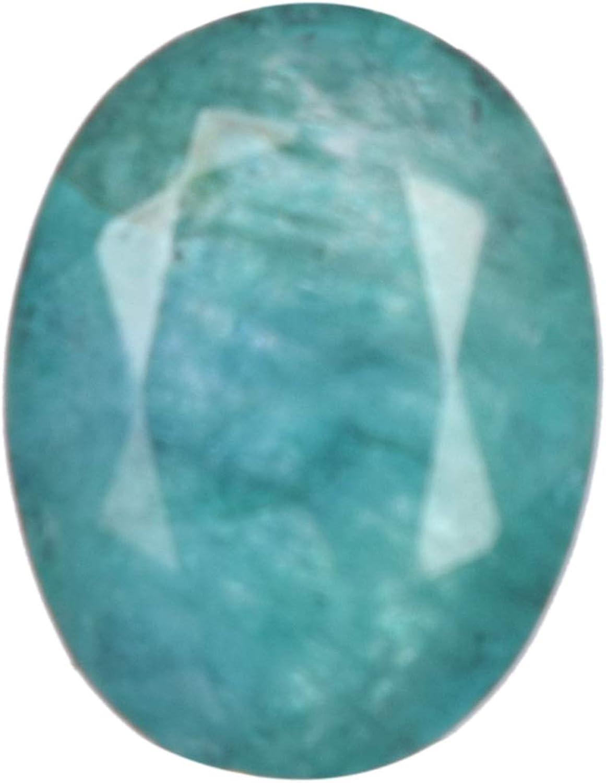 Real Gems Tamaño pequeño Tamaño del Anillo de Esmeralda Piedra Preciosa Natural, Verde Esmeralda 3.50 CT Piedra, Piedra facetada de Forma Ovalada