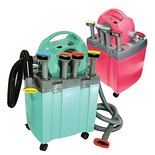 AGC Pro Grooming Kit - Professional Pet Hair Vacuum System - 3.2 HP Dryer with heat & Vacuum Deshedding Equipment (Fuchsia)