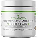 Probiotics for Dogs and Cats - 120 Servings - Dog & Cat Probiotic Powder with Prebiotic for Diarrhea, Skin & Yeast Infection Treatment, Coprophagia, Poop Eating Deterrent & Prevention, Allergy Relief