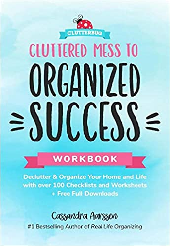graphic relating to Free Printable Home Organization Worksheets known as Cluttered Mess toward Well prepared Results Workbook: Declutter and