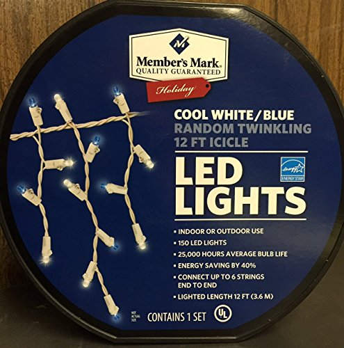 Cool White Blue Led Icicle Lights
