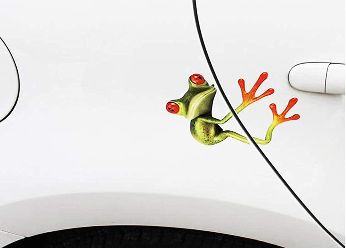 ALLICERE Funny Frog Car Decal Sticker for Cars,Trucks,Motorcycle,Laptop Window Wall Windows,Walls