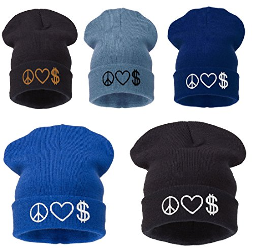 negro red de schwarz punto 4soldherren Peace Gorro schwarz Negro Peace Love black negro Money Love universal Money faRqIC