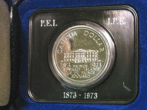 1973 CA Canada Prince Edward Island Dollar in Original Box 1 Proof - Like Royal Canadian Mint (Canadian Pennies)