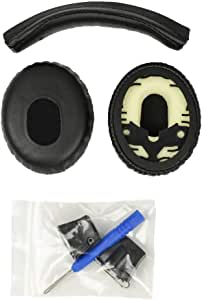 Accessory House Replacement Ear pads and Headband Cushion pad for Bose QuietComfort 3 (QC3) - PACKAGE IS ONLY COMPATIBLE WITH QC3 HEADPHONES!
