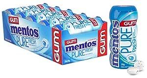 Mentos Pure Fresh Chewing Gum, Fresh Mint, Sugar Free, 10 Pocket Bottles, 10 x 30 g, Fresh Mint