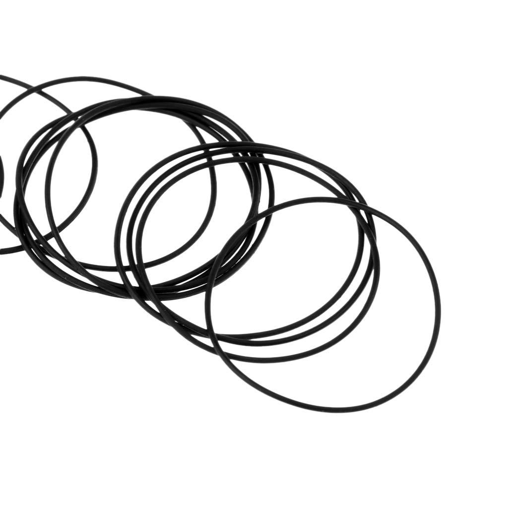 Nero 24mm IPOTCH 40 Pezzi 0,6mm Guarnizioni Kit O-Ring Anello Smartwatch